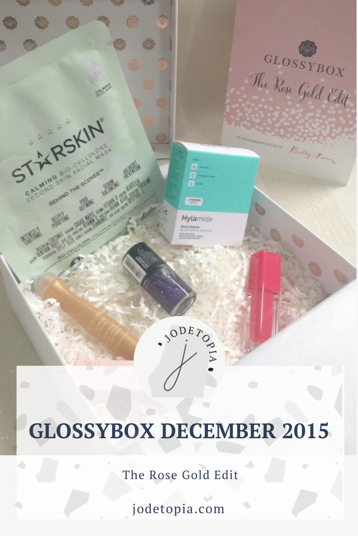 Glossybox December 2015 Pinterest Graphic