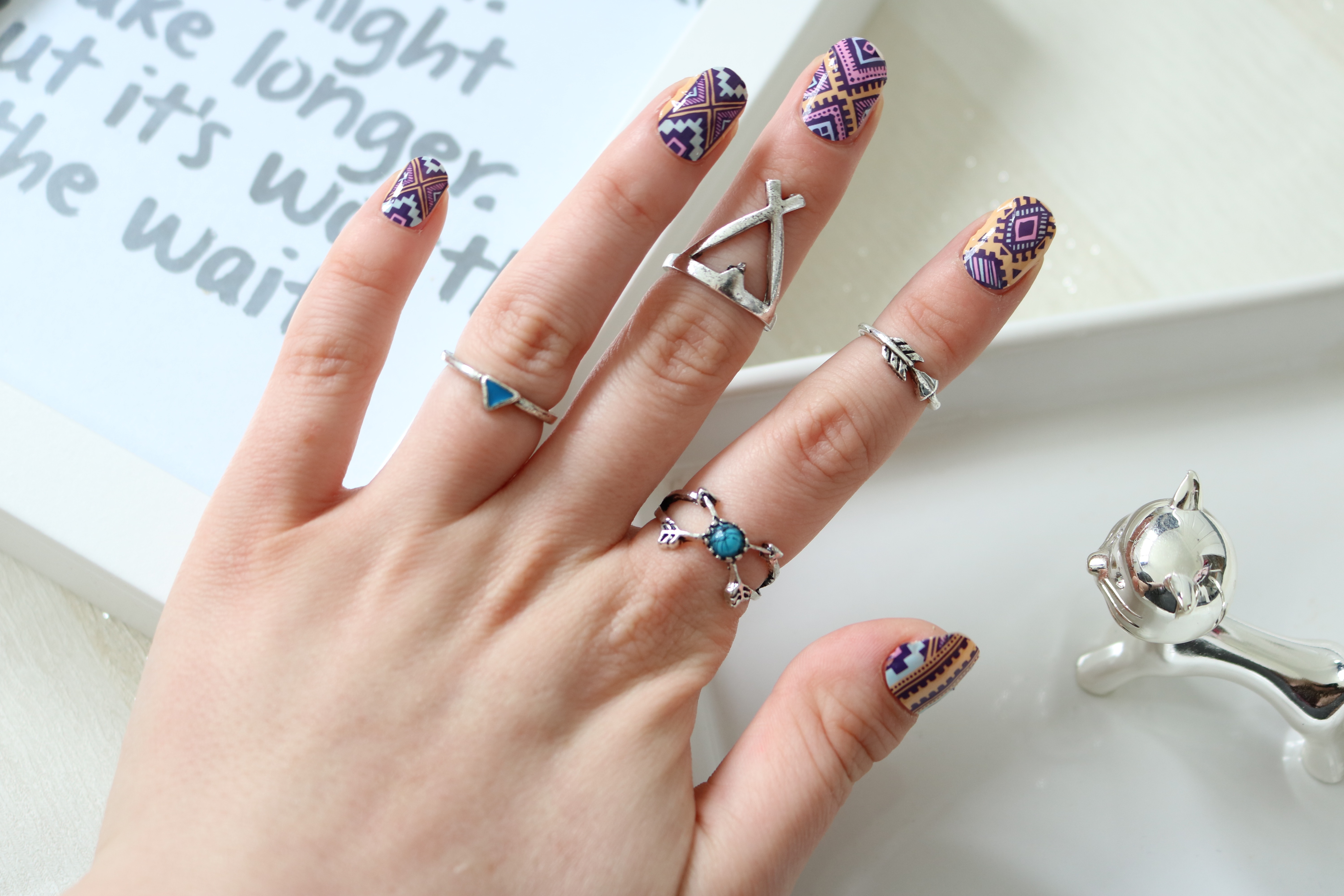 Tribe Thumbs Up Nail Wraps, Review, Corbico Jewellery