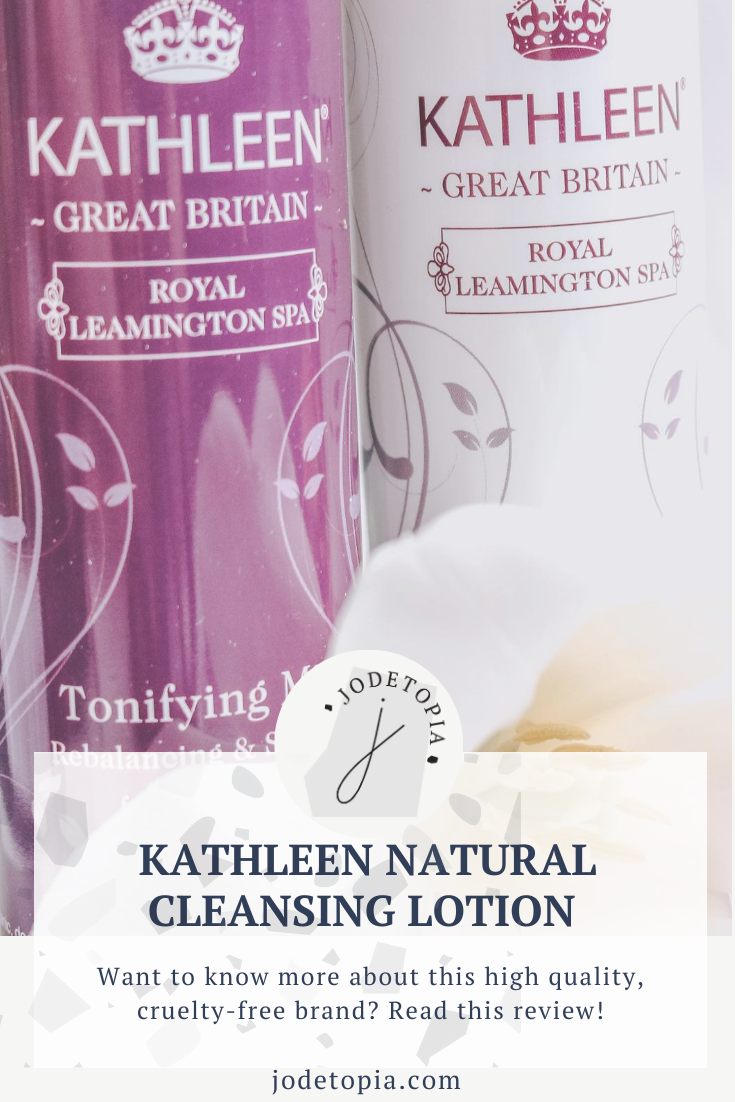 Kathleen Cleansing Lotion Pinterest Graphic
