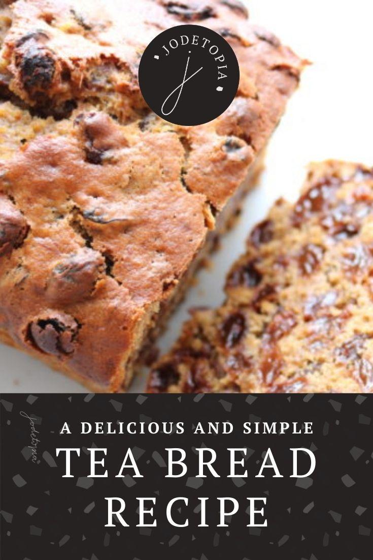 simple tea bread recipe pinterest graphic