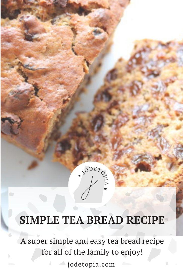 tea bread recipe pinterest graphic