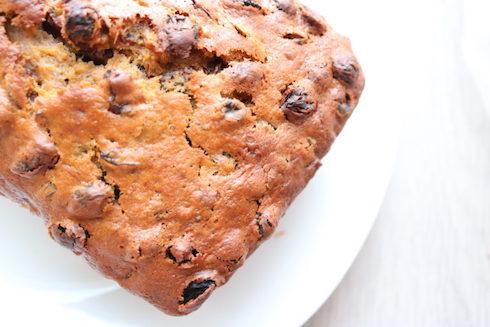 beautiful cooked tea bread with a crisp edge