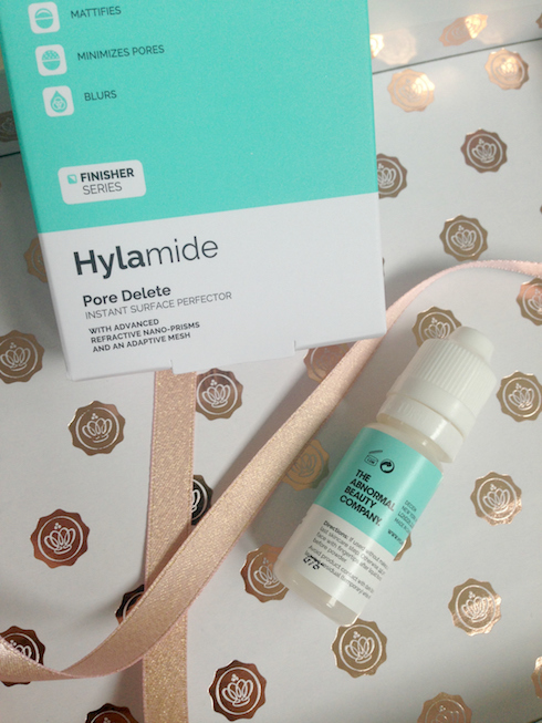 Hylamide pore delete packaging and product