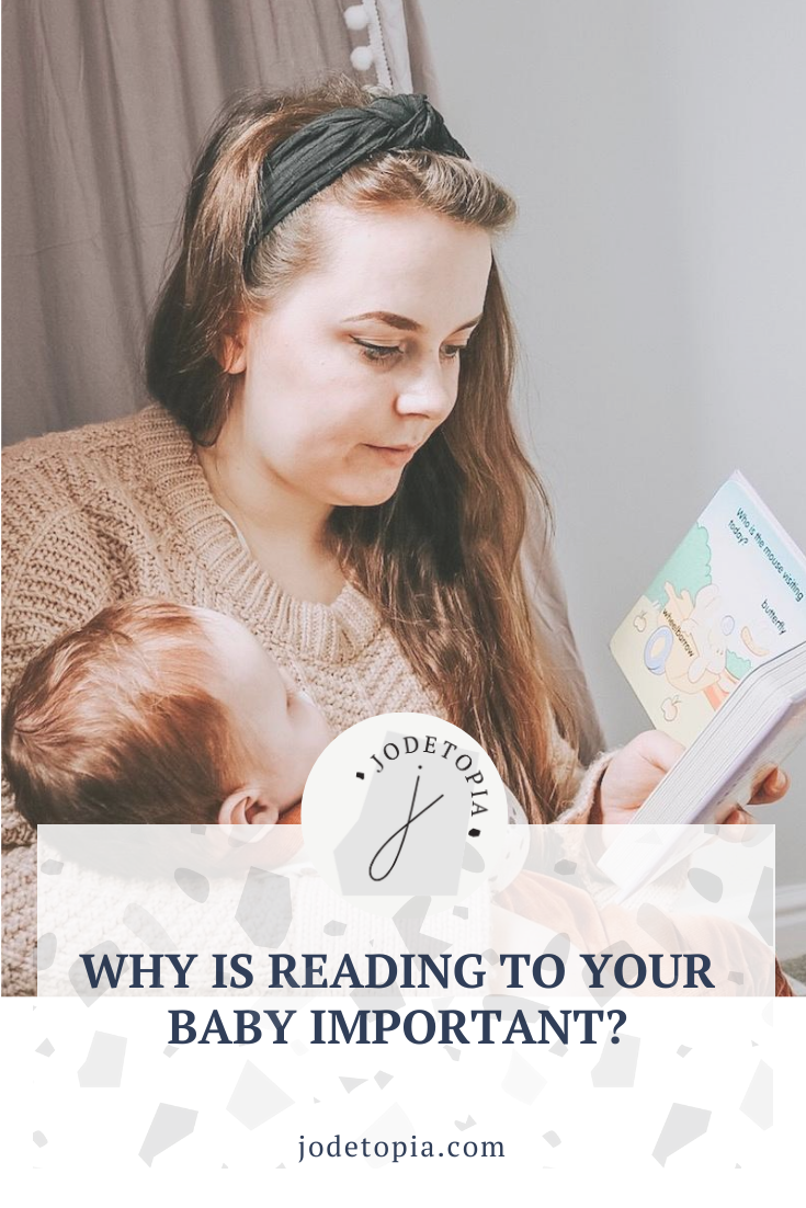 Why is reading to your baby important? Pinterest Graphic