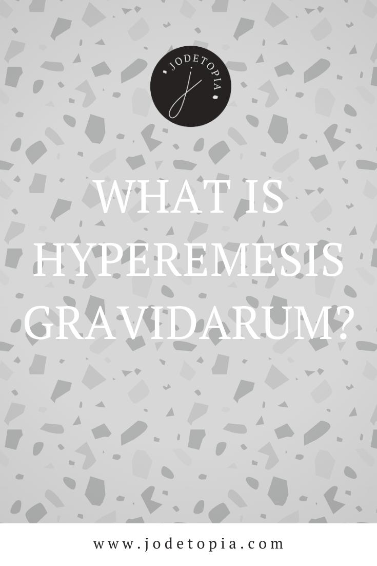 What is hyperemesis gravidarum? pinterest graphic