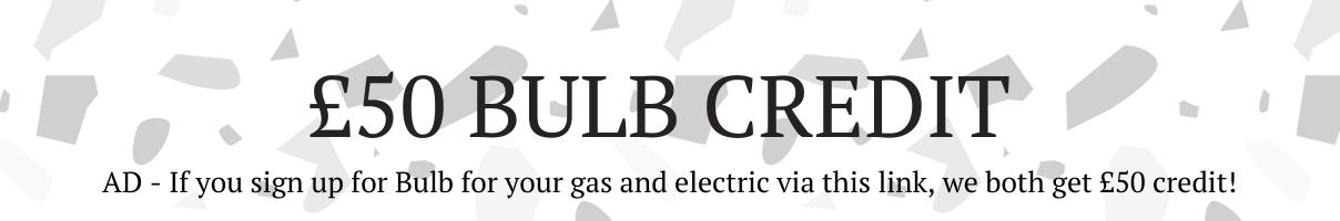 £50 bulb credit discount