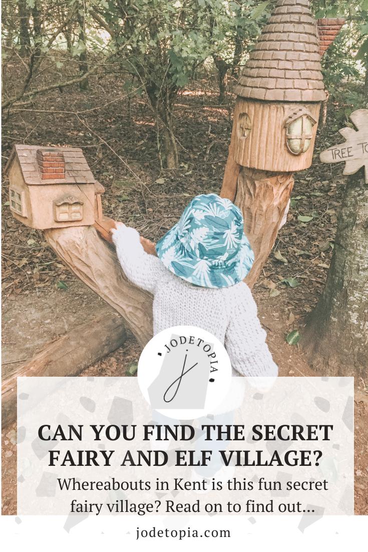 secret fairy and elf village pinterest graphic