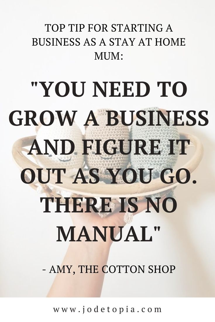 The Cotton Shop's tip for starting a business