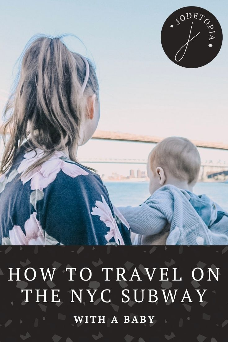 New York with a baby pinterest pin