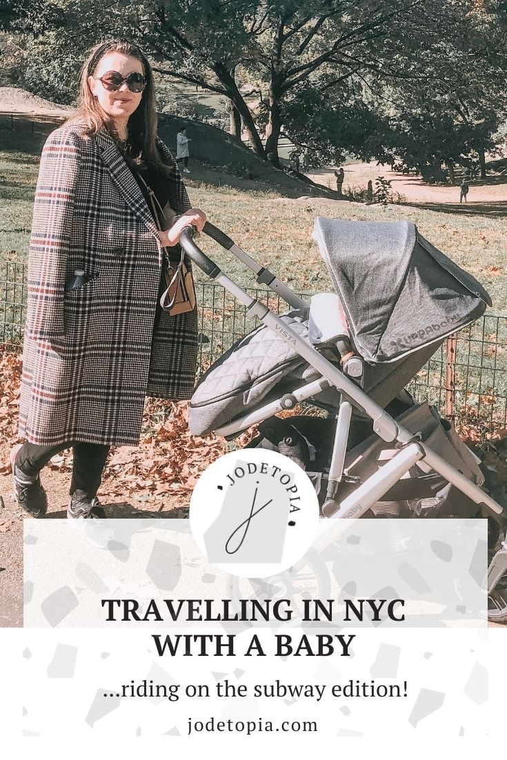 New York with a baby pinterest graphic