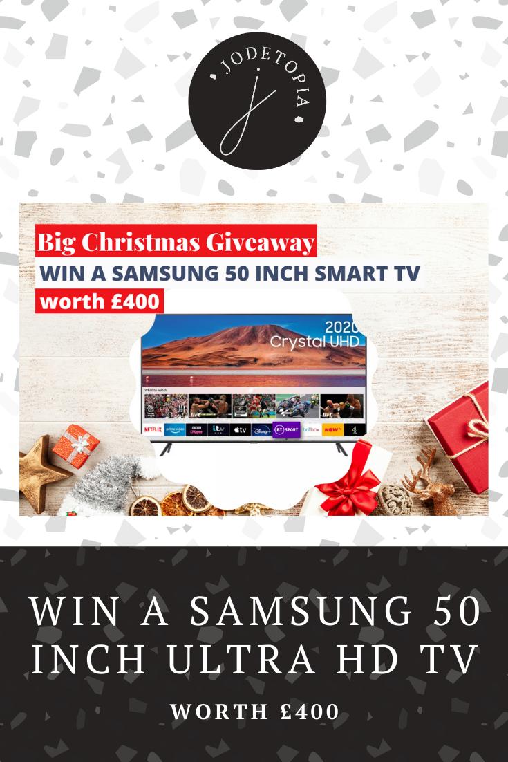 Win a samsung 50 inch smart TV