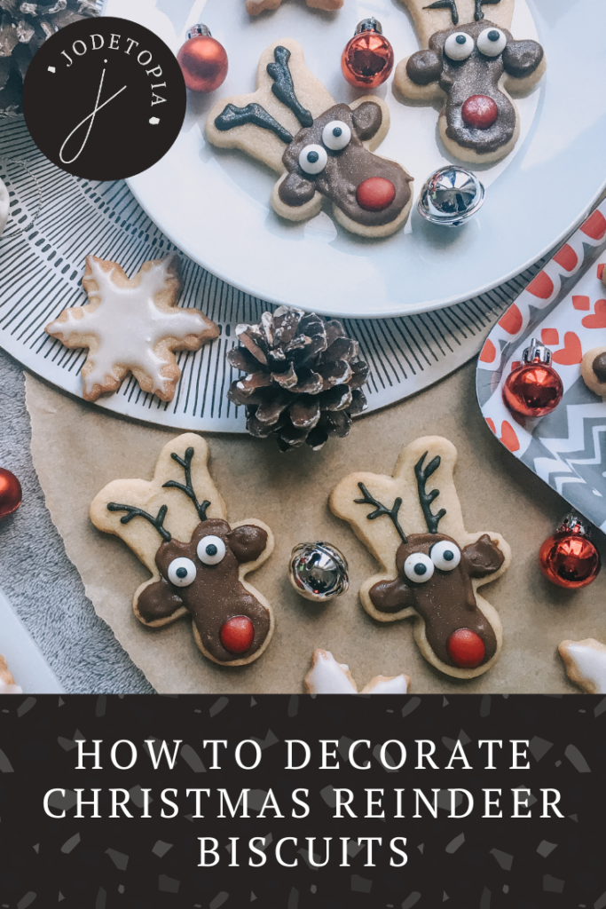 How to decorate Christmas biscuits, pinterest graphic