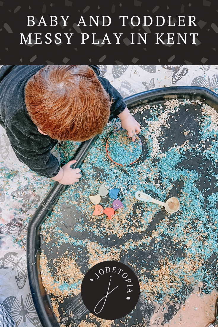 Baby and Toddler Messy Play in Kent Pinterest Graphic